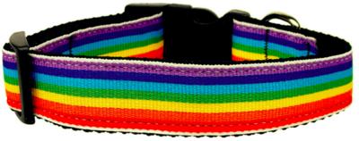 Pride Rainbow Stripe Collar - Dog