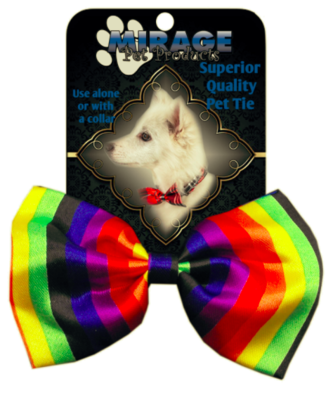 Pride Rainbow Stripe Bowtie