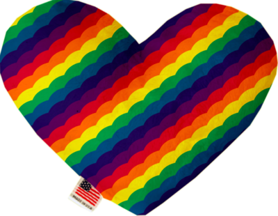 Pride Rainbow Stuffing Free Heart Toy