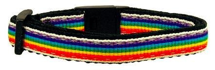 Pride Rainbow Stripe Collar - Cat