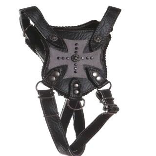 Gasparilla Vegan Leather And Suede Harness - Black