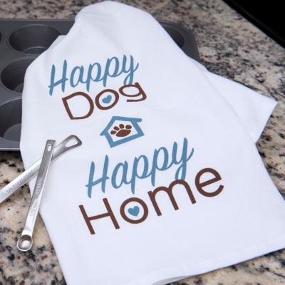Kitchen Towel - Happy Dog, Happy Home