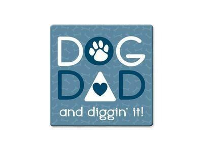 Absorbent Stone Coaster - Dog Dad
