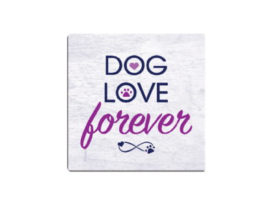 Absorbent Stone Coaster - Dog Love Forever