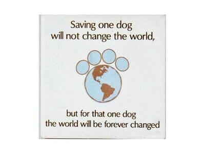 Absorbent Stone Coaster - Saving One Dog