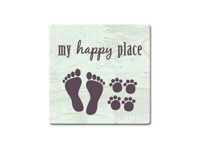 Absorbent Stone Coaster - My Happy Place