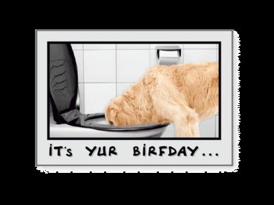 Birthday Pet Greeting Card - Drink Responsibly