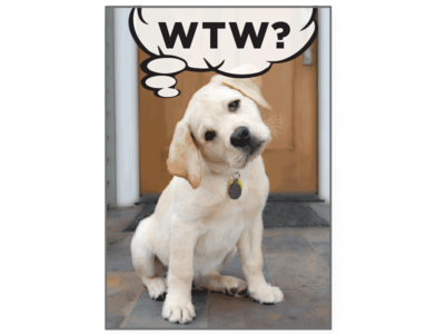 Birthday Pet Greeting Card - WTW? What The Woof