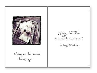 Birthday Pet Greeting Card - Wherever The Road...