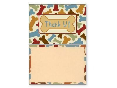 Thank You Pet Greeting Card - Thank U Blank