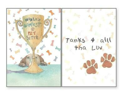 Pet Sitter Greeting Card - World's Greatest