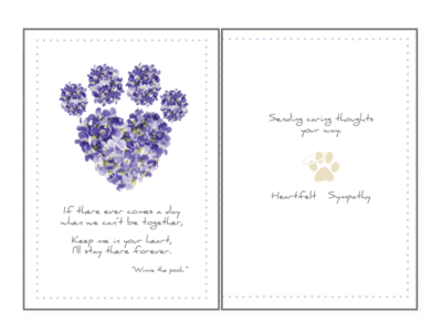 Pet Sympathy Greeting Card - If There Ever Comes A Day