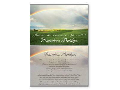 Pet Sympathy Greeting Card - Rainbow Bridge