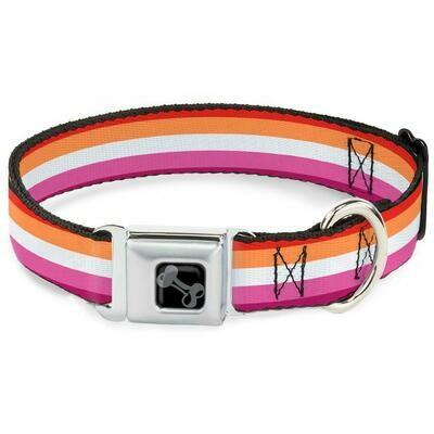 Buckle-Down Lesbian Pride Seatbelt Buckle Dog Collar