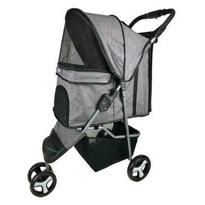 Casual Pet Stroller With Removable Cup Holder