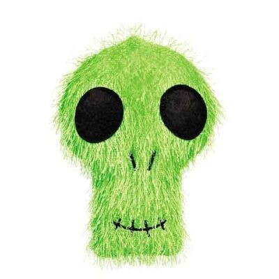 Zanies Halloween Fuzzles Skull Dog Toy
