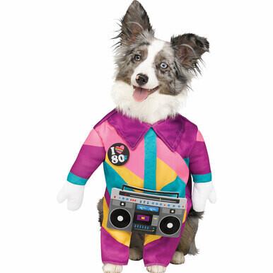 Paw Prints 80s Dog Pet Walking Costume