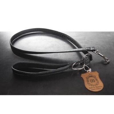 Ostrich Vegan Leather Dog Leash - Black