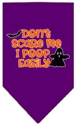 Don't Scare Me, I Poop Easily Halloween Pet Bandana