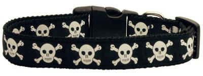 Skulls Nylon Dog Collar