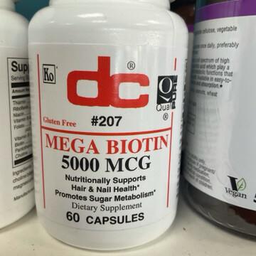 Mega Biotin 5000MCG