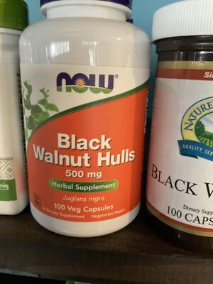 Black Walnut Hulls 500mg 100 Vcaps