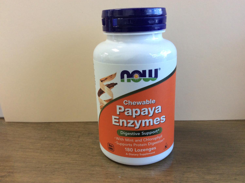 Papaya Enzyme Chewable,  mint (180 Loz)