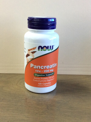 Pancreatin 10X 200mg 100ct
