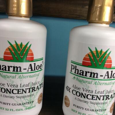 Aloe Vera Leaf Juice 4x Concentrate 32oz