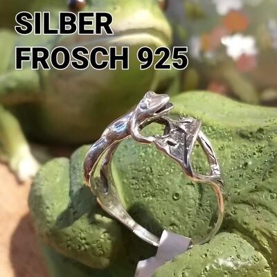 Silber Ring Frosch