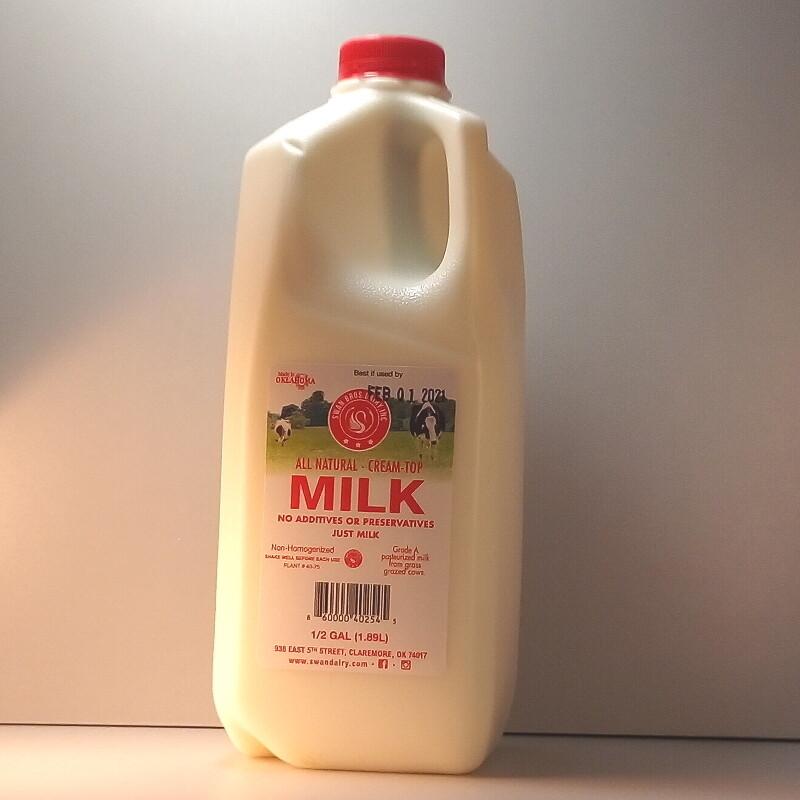Swan Bros. - Milk - Half Gallon