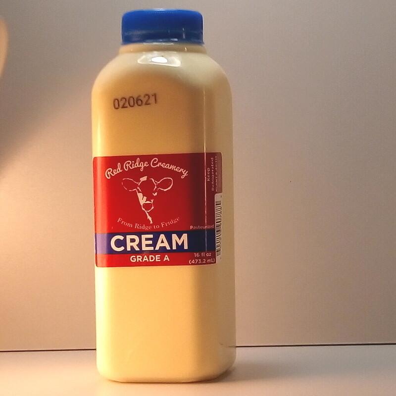 Red Ridge Creamery - Cream - 1 Pint