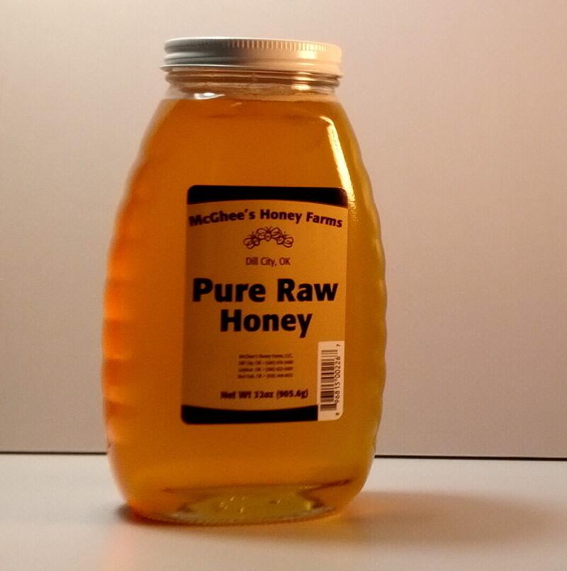 McGhee Honey - Pure Raw Honey - 32oz. jar