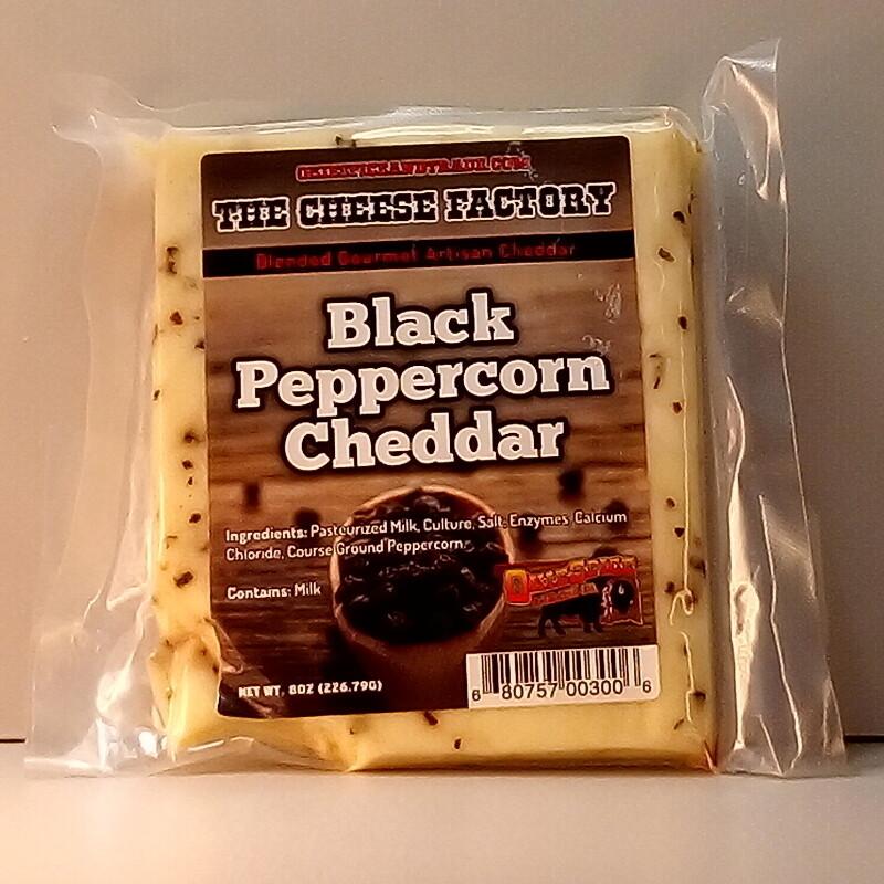 Cheese Factory - Black Peppercorn Cheddar - 8oz.