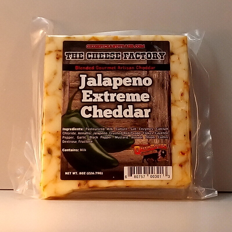 Cheese Factory -Jalapeno Extreme Cheddar - 8oz.