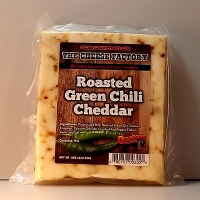 The Cheese Factory - Roasted Green Chili Cheddar - 8oz.