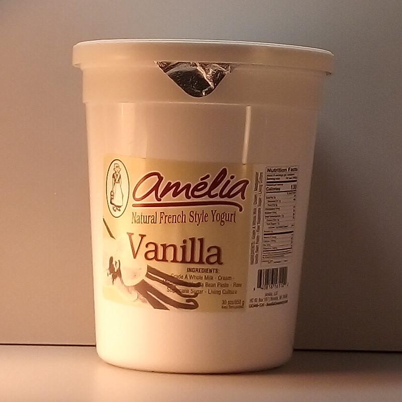 Amelia Vanilla Yogurt - 30oz.