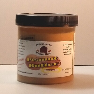 Snider Farms - No Salt Peanut Butter - 16 oz.