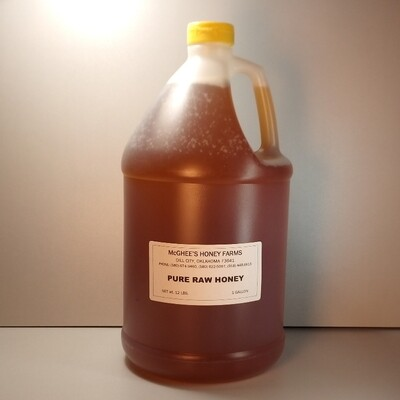 McGhee Honey - Pure Raw Honey - Gallon Jug