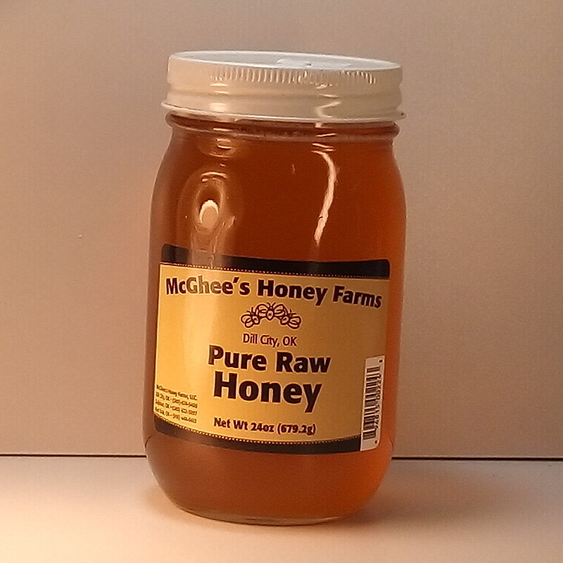 McGhee Honey - Pure Raw Honey - 24 oz. jar