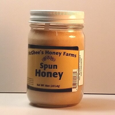McGhee Honey - Spun Honey - 16oz. jar