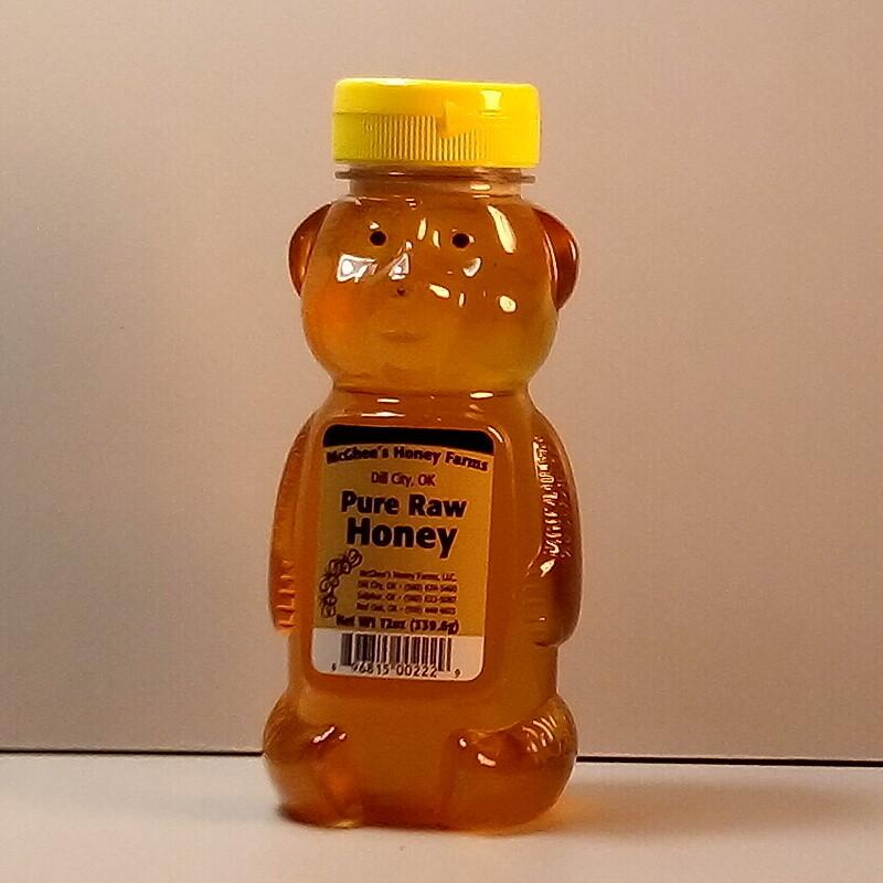 McGhee Honey - Pure Raw Honey - Bear 12oz.