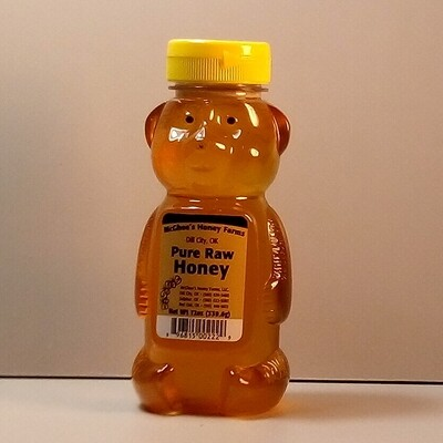McGhee Honey - Pure Raw Honey - Bear 12oz.