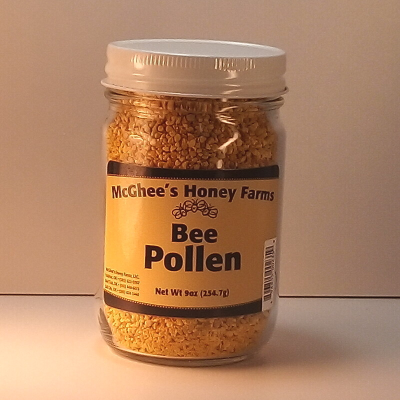 McGhee Honey - Bee Pollen - 9oz. jar
