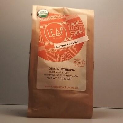 Leap Coffee (Certified Organic) - Ethiopia (Light) - 12 oz. bag