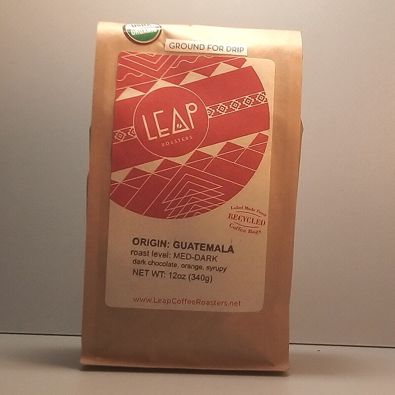 Leap Coffee (Certified Organic) - Guatemala (Medium-Dark) - 12 oz. bag