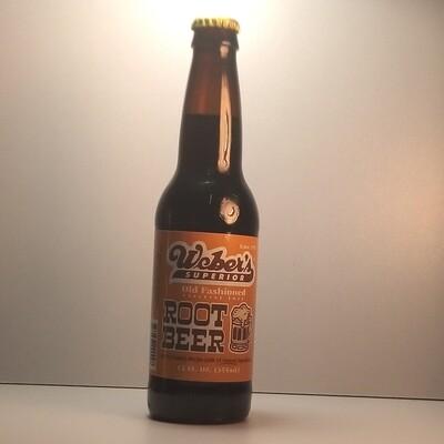 Weber's Root Beer - glass bottle