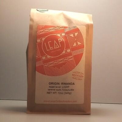 Leap Coffee (Certified Organic) - Rwanda (Light) - 12 oz. bag