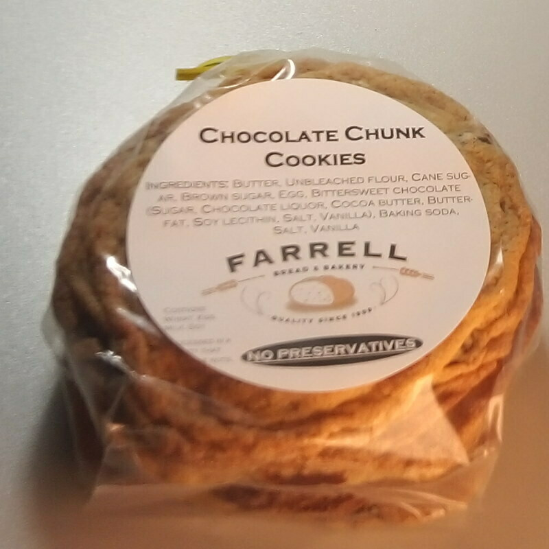 Farrell Bread - Chocolate Chunk Cookies - 4 pk.