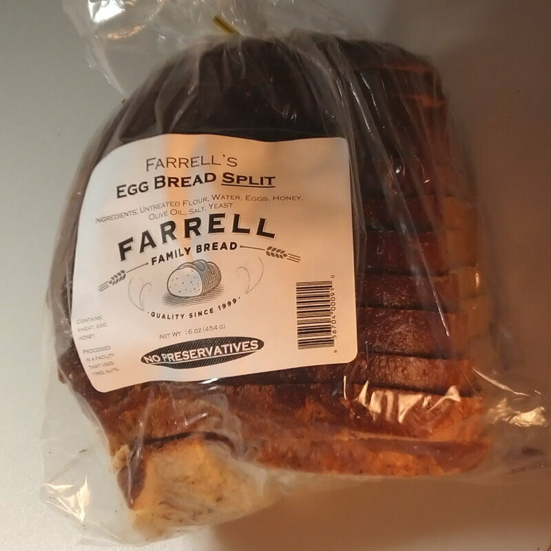 Farrell Bread - Egg Bread Split - ~1-1.5 lbs.